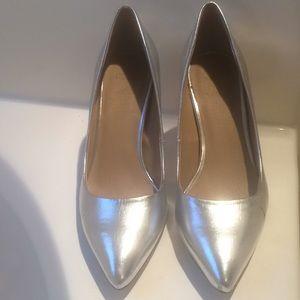 ASOS Metallic Silver Heels, best fits US 6.5